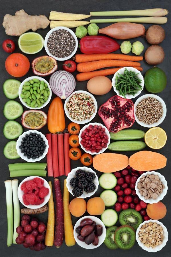 大健康食品收藏 免版税库存图片