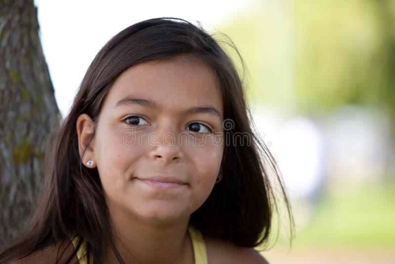 大儿童微笑年轻人 库存图片