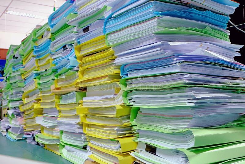 大全部文件堆 库存照片