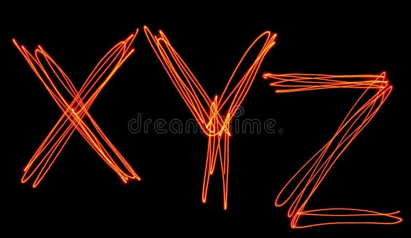 ????YX[?Z[?_大写激光字母表-大写字母x, y和z