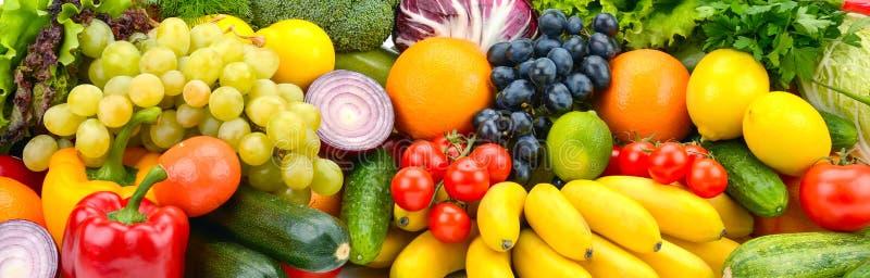 大分类有用的蔬菜和水果 免版税库存图片