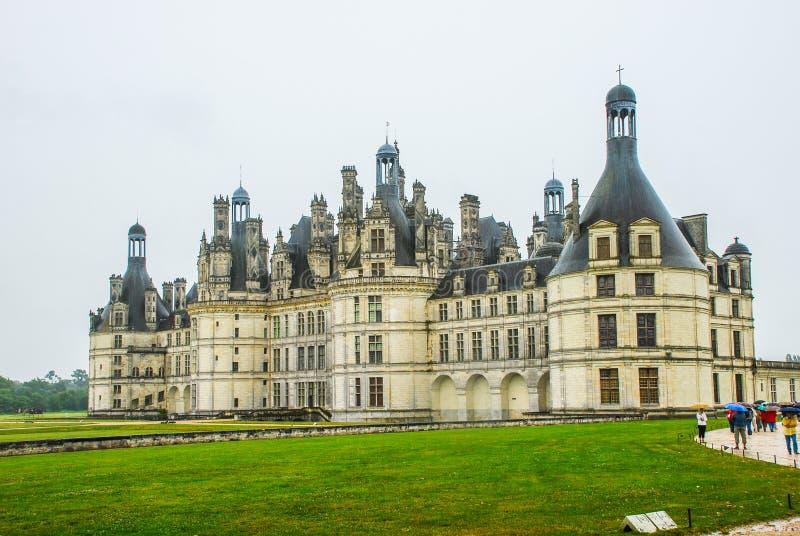 大别墅在Chambord,法国的de Chambord,是其中一个最可认识的大别墅在世界上由于它非常 库存图片