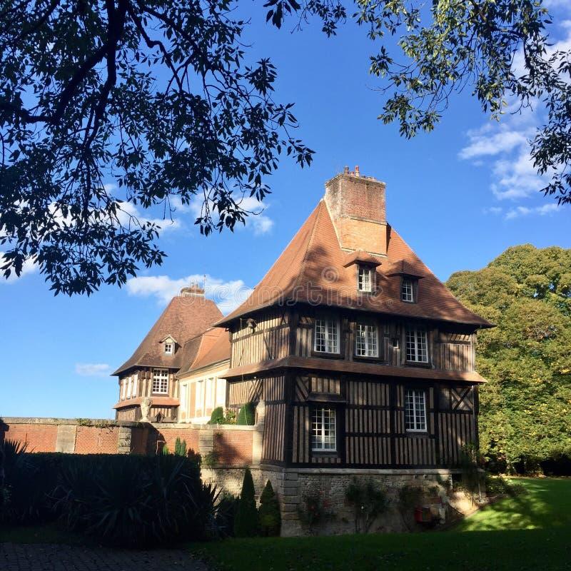 大别墅法国诺曼底 免版税库存照片