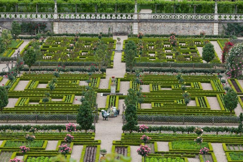 大别墅的de科隆比耶尔菜园。 库存照片