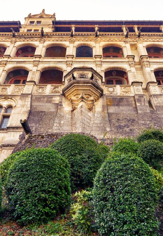 大别墅皇家de布卢瓦,法国 库存图片