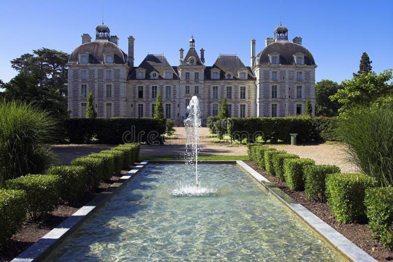 大别墅cheverny de法国卢瓦尔河 免版税库存照片