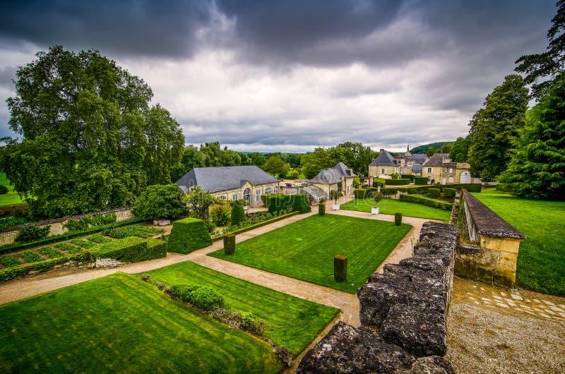 大别墅d'Usse,法国- 2012年6月25日 作为启发的著名城堡的童话当中睡美人 库存图片