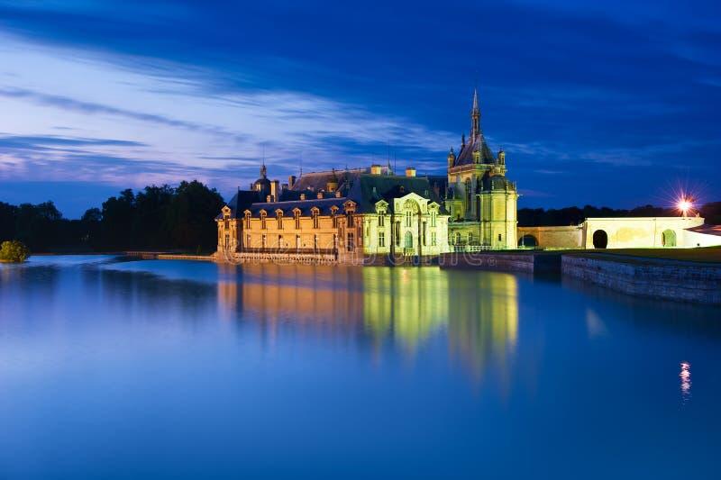 大别墅de尚蒂伊在尚蒂伊,法国 库存照片