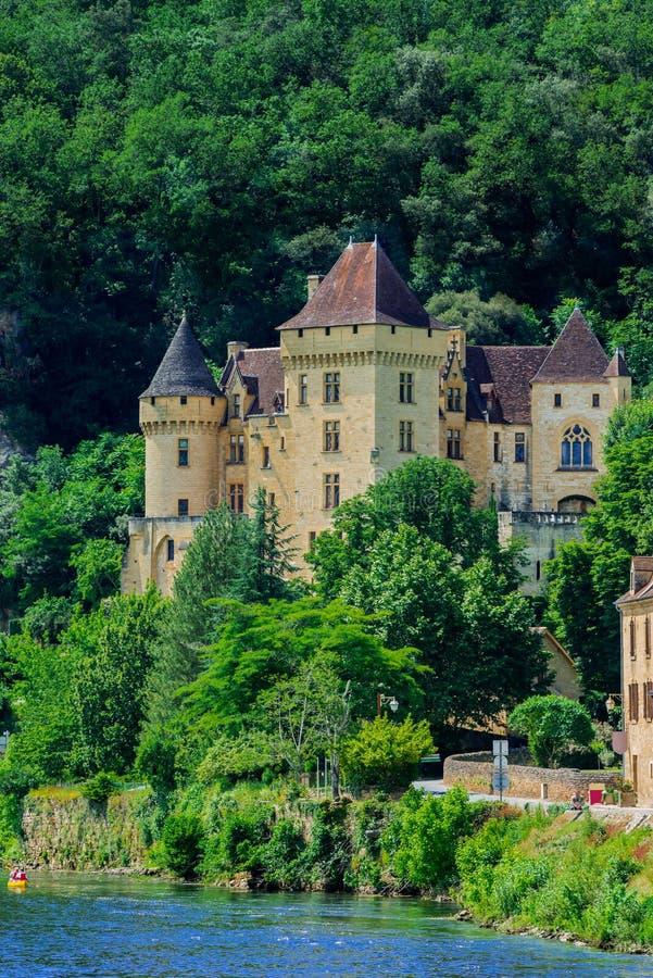大别墅de la mallantrie La roque gageac法国 免版税库存照片