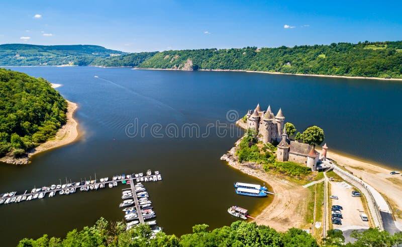 大别墅de Val,在多尔多涅省的银行的中世纪城堡在法国 图库摄影