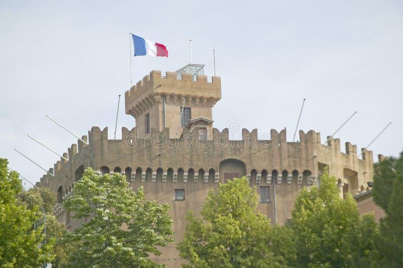 大别墅Grimaldi, Haut de Cagnes,法国 免版税库存图片