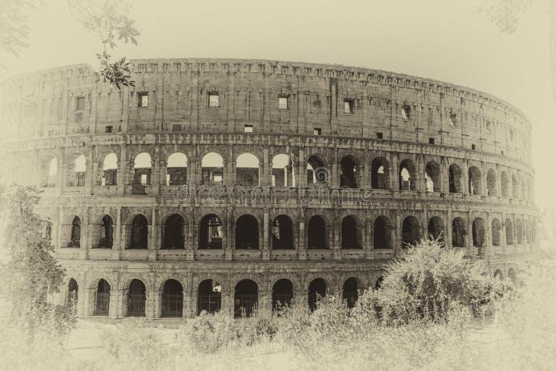 大剧场葡萄酒照片,减速火箭的样式,罗马,意大利 库存照片