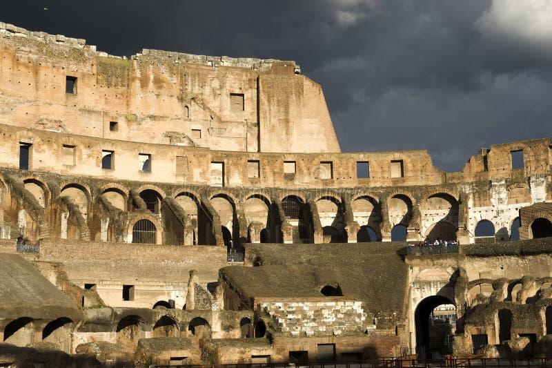 大剧场,罗马意大利 库存图片