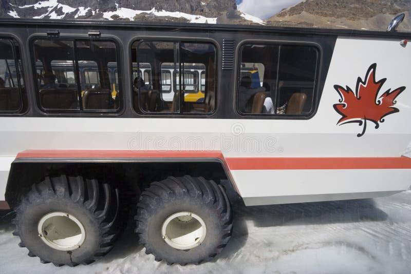 大副雪上电车视图 库存照片