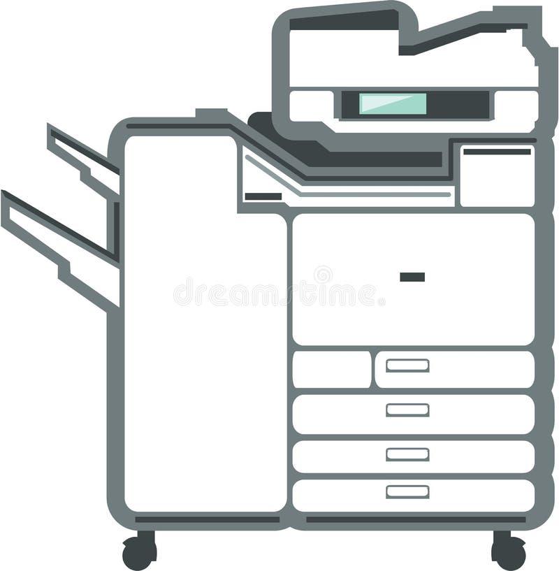 大办公用打印机影印机 皇族释放例证