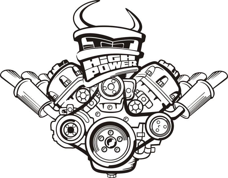 大功率引擎 皇族释放例证