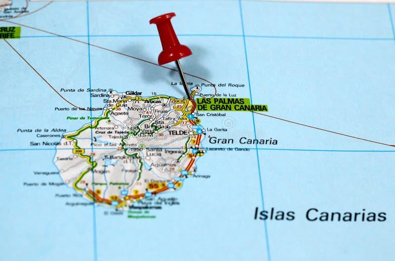 大加那利岛的拉斯帕尔马斯在西班牙 免版税库存图片