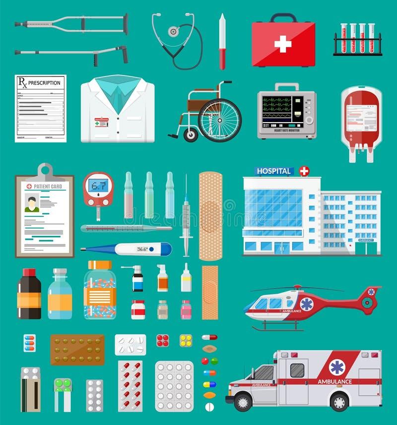 大医疗集合 向量例证