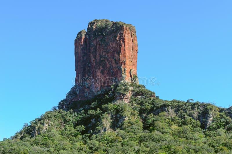 大卫塔山或恶魔槽牙在Chochis,玻利维亚 库存图片