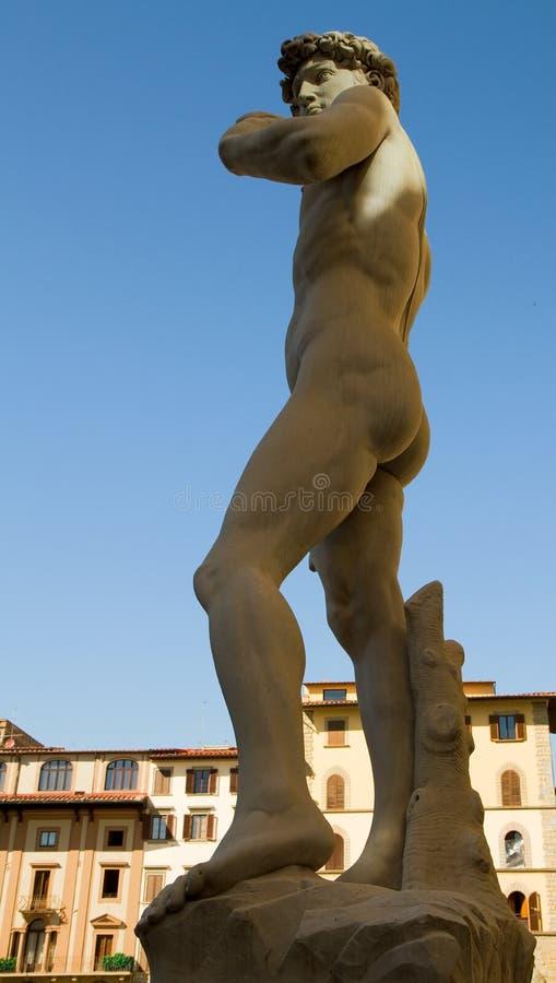 大卫新生雕塑 免版税图库摄影