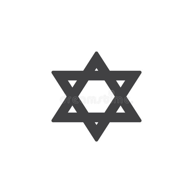 大卫王之星传染媒介象 库存例证