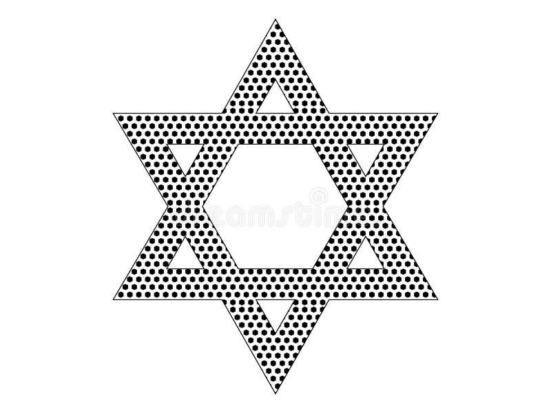 大卫王之星的光点图形图片 皇族释放例证