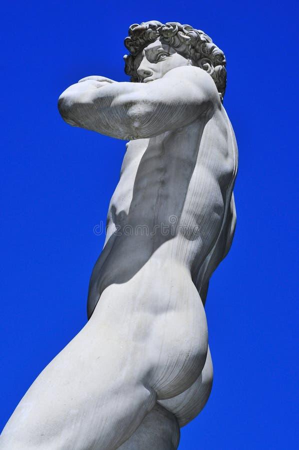 大卫的复制品米开朗基罗在佛罗伦萨,意大利 库存图片