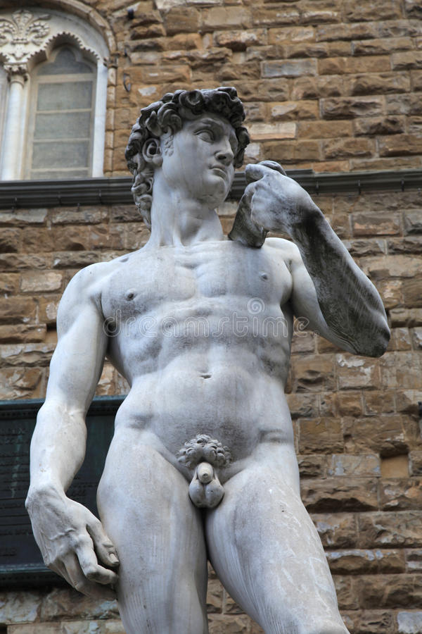 大卫雕象米开朗基罗Buonarroti,佛罗伦萨 图库摄影