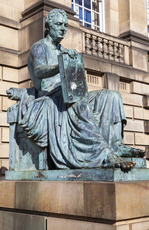 大卫・休谟雕象在爱丁堡 库存照片