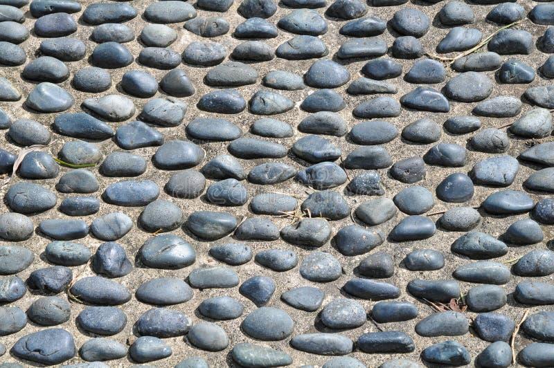 大卵石楼层石头 免版税库存图片