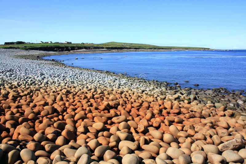 大卵石海滩,爱尔兰 免版税图库摄影