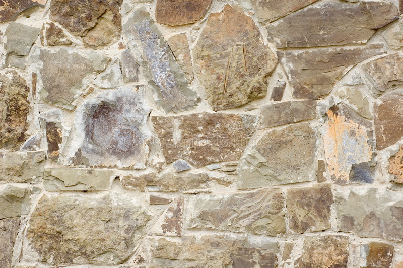 大卵石石墙 免版税库存照片