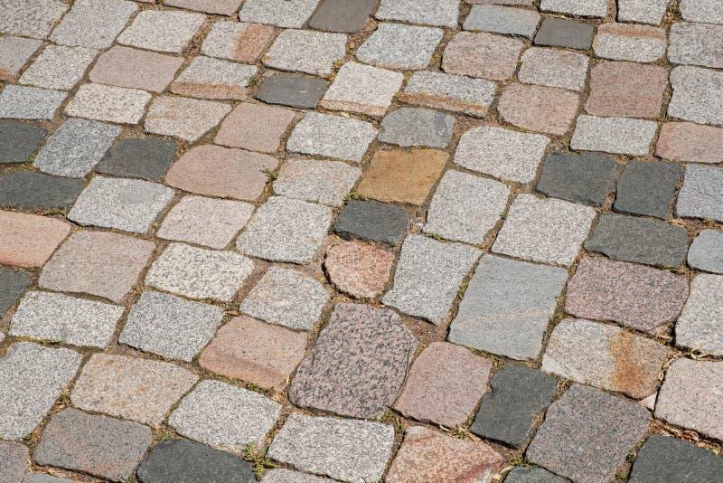 大卵石石头地板路面-鹅卵石边路 免版税库存图片