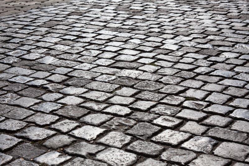 大卵石石路 库存照片