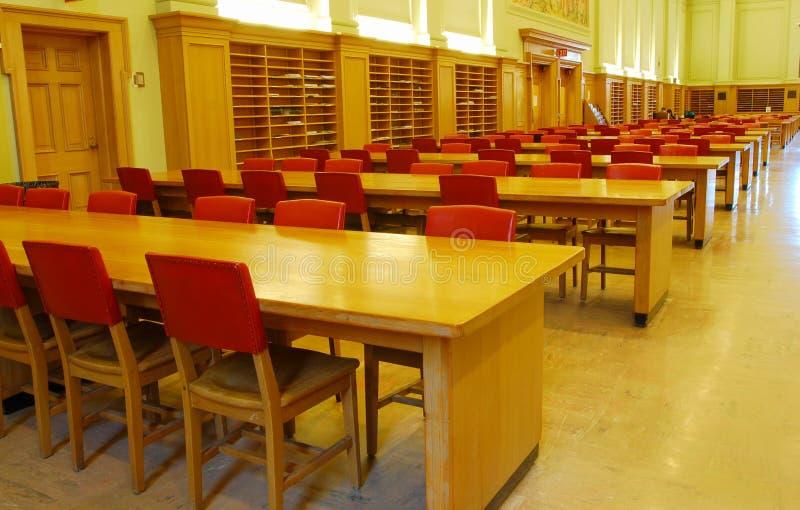 大厅图书馆研究大学 库存照片