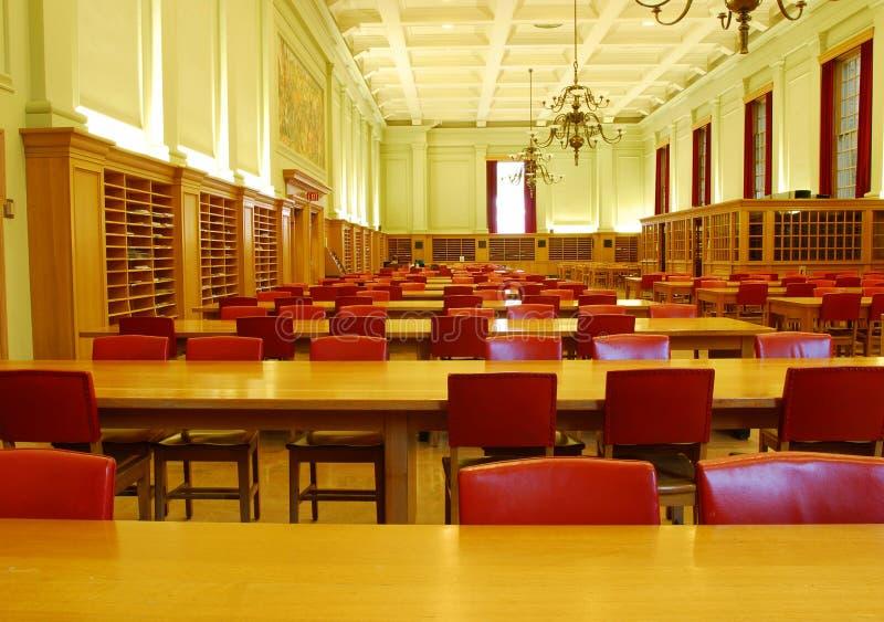 大厅图书馆研究大学 免版税库存图片