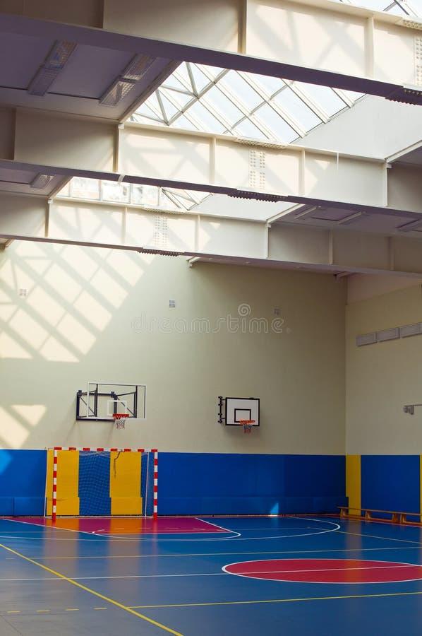 大厅学校体育运动培训 库存照片
