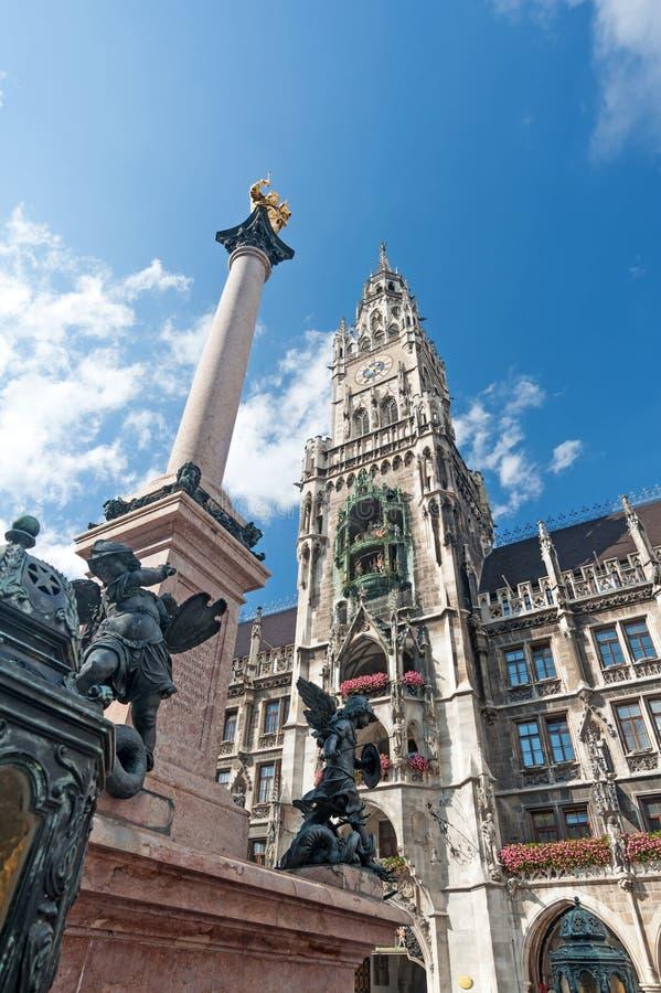 大厅慕尼黑城镇 免版税图库摄影