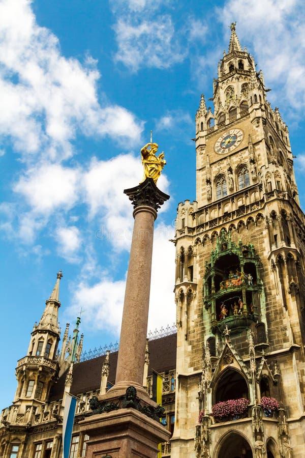 大厅慕尼黑新的城镇 免版税库存图片