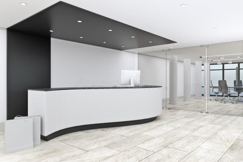 大厅现代办公室 向量例证