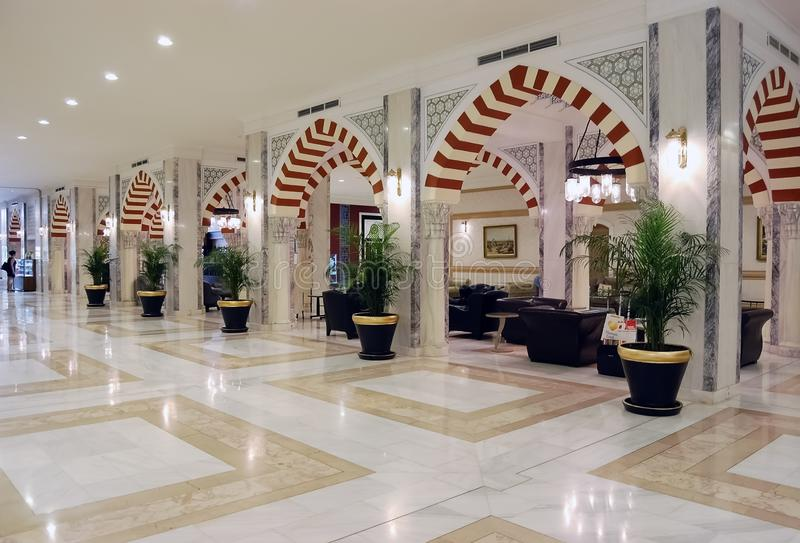大厅的内部看法东方样式的在土耳其lu 免版税库存图片