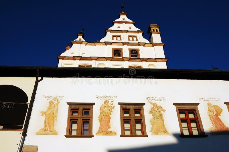 大厅老城镇 免版税库存图片