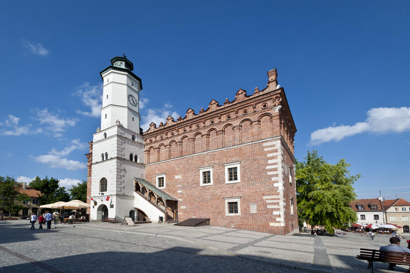 大厅老波兰sandomierz城镇 免版税图库摄影