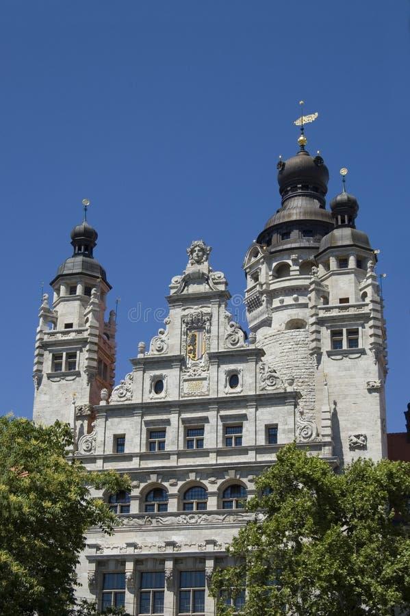 大厅莱比锡城镇 免版税图库摄影