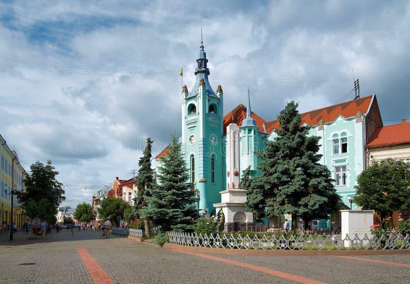 大厅mukachevo城镇西部的乌克兰 免版税库存图片