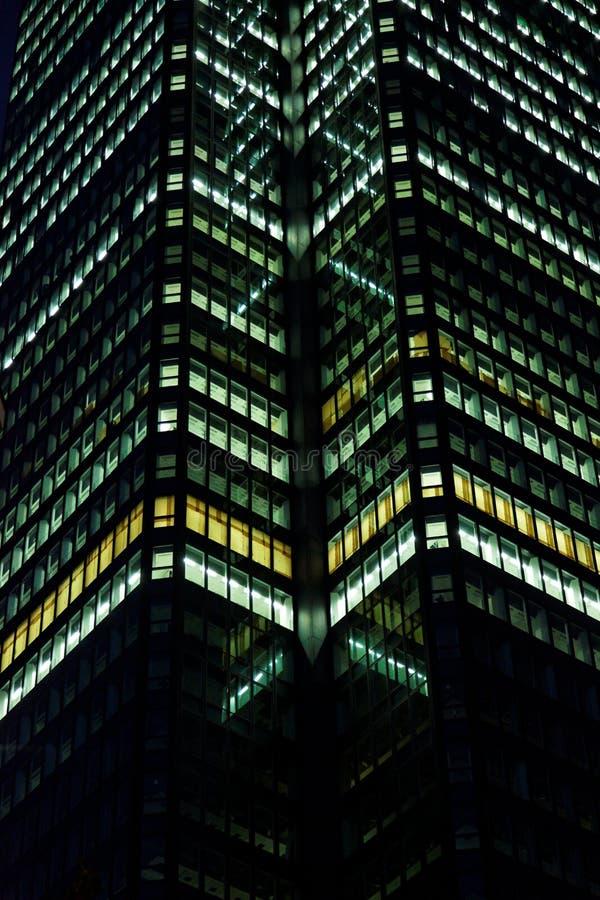 大厦企业晚上 库存照片