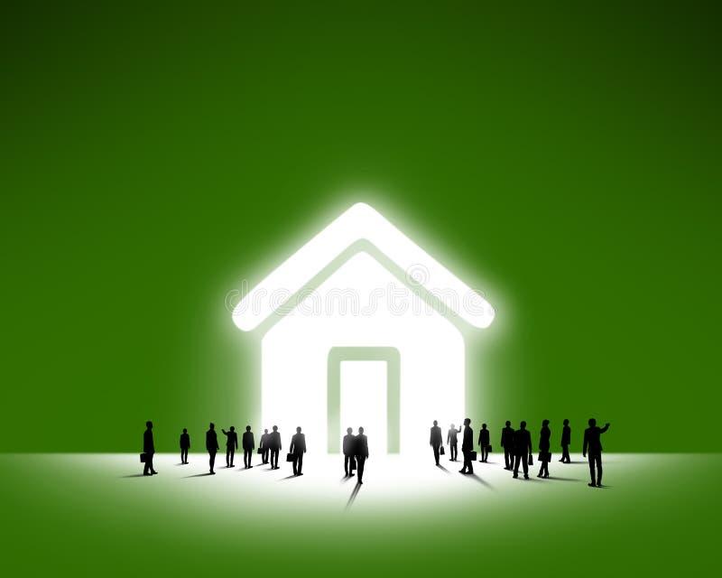 大厦企业概念建筑组难题配合 皇族释放例证