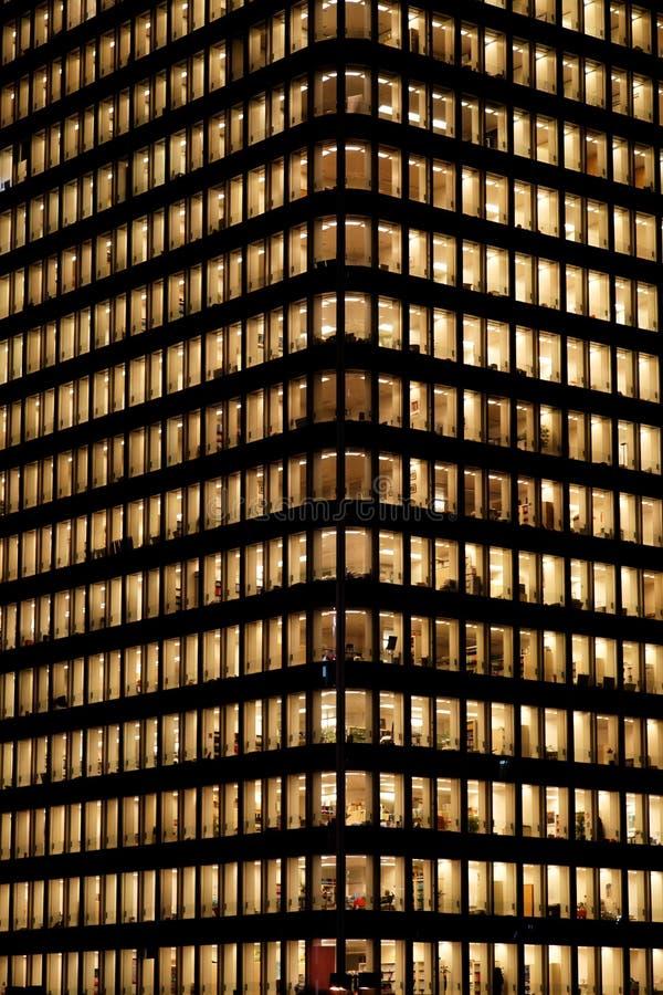 大厦企业防御la晚上巴黎 免版税库存图片