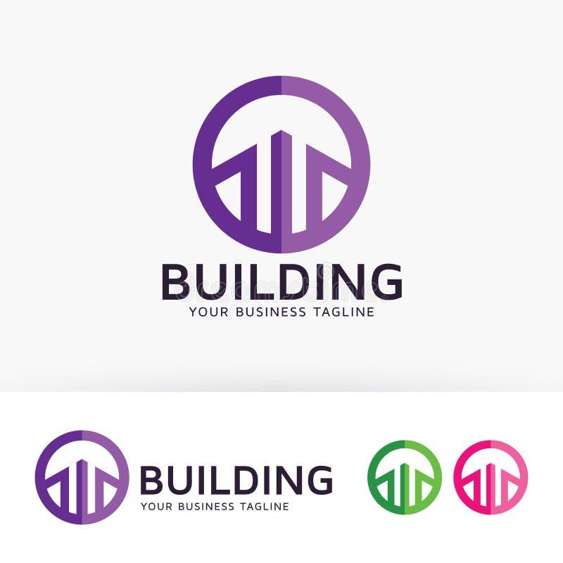 大厦传染媒介商标设计 向量例证