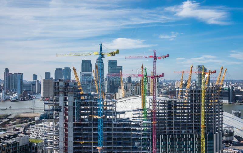 大厦伦敦新的公寓 免版税库存照片